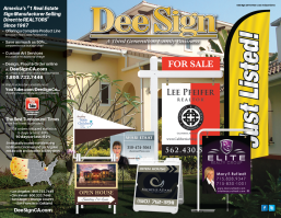 DeeSign West Coast Independent Real Estate Sign Catalog 2015